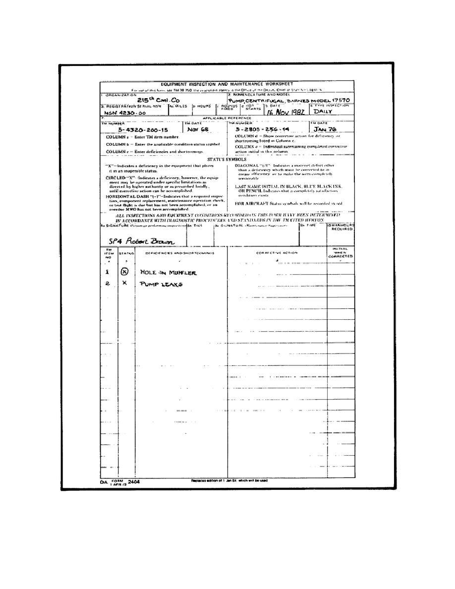 Figure 5. Sample DA Form 2404